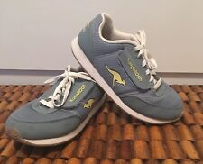 Kangaroos Tennis Shoes Womens Size 8 Blue Hook & Loop Zip Pocket Lightweight EUC