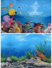 PVC Double Sided Aquarium Background Poster Fish Tank Ocean Decorative Wall Back