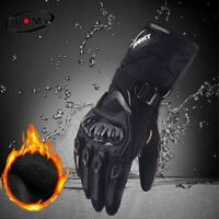 Winter Warm Motorcycle Gloves Waterproof Windproof Moto Touch Screen Full Finger