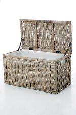 VIVANNO Truhe Box Wäschetruhe aus Rattan 'Lea' 74cm breit, natur