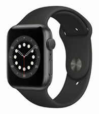 Apple Watch Series 6 44mm Grigio Siderale Alluminio Cassa con Nero Cinturino Sport - Regular (GPS) (M00H3TY/A)