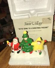 Dept 56 Snow Village Accessories We're Going To A Christmas Pageant 5435-6