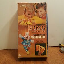 BOZO THE CLOWN PUSH BUTTON MARIONETTE BY KNICKERBOCKER 1972 With Original Box