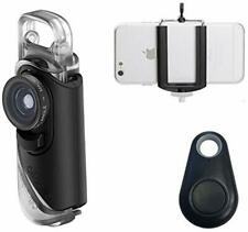 Compatible with iPhone Pixel and Samsung Galaxy Smartphones olloclip Multi-Device Clip with 2-in-1 Essential Lens Kit Includes Wide Angle Macro Lenses Selfie Bluetooth Remote Shutter