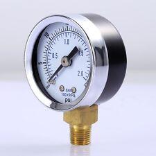 "Air Compressor Pressure / Hydraulic Gauge 1.5"" Face Side Mount 1/8"" NPT 0-30 PSI"