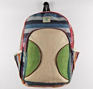 Hemp Backpack Rucksack Laptop Bag Handcrafted Eco Friendly Sustainable Fabrics