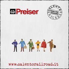 PREISER 14029 SET PERSONAGGI: Passeggeri di inverno 1/87