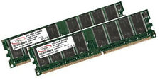 2x 1GB 2GB Low Density DDR RAM Speicher PC 2100 266 Mhz DDR1 184pin PC2100U DIMM
