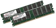 2x 1GB 2GB Low Density DDR RAM Speicher PC 2100 266 Mhz DDR1 184pin PC2100U DIMM
