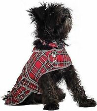 Winter Jacket Ancol Muddy Paws Highland Puppy Dog Coat Red Tartan Large