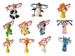 Novelty Eye Reading Glasses Holder Specs Nose Stand Gift Animals Jungle & Farm