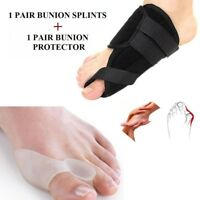 2 Types Big Toe Bunion Splint Straightener Corrector Hallux Valgu Relief Pain