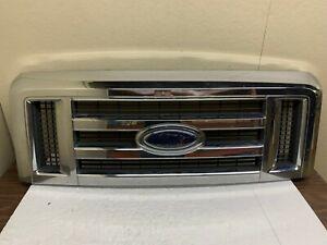 2008 2009 2010 2011 2012 2013 2014 Ford E150 E250 Front Grille W/Emblem OEM
