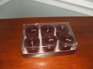 PIER 1 ONE CRANBERRY   BALSAM Box set of 6 Votive Candles NEW NIB