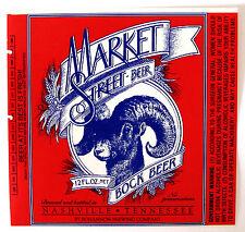 Bohannon Brewing Co MARKET STREET BOCK BEER label TN 12 oz 1994-1996