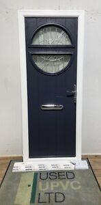 SOLIDOR-COMPOSITE-PISA-FRONT ENTRANCE DOOR-ANTHRACITE GREY 7016-NARROW-THIN-NEW