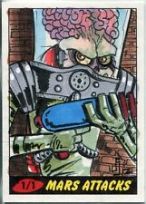 Mars Attacks Heritage Sketch Card By Jamie Snell