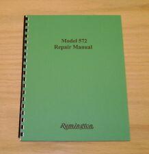 Remington Model 572 Field Service /  Repair Manual -34 Page Version - #57