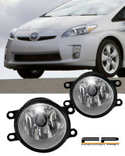 2010-2015 Toyota Prius Clear Lens Replacement Fog Light Housing LH/RH Pair
