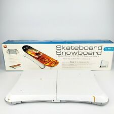 Nintendo Wii Fit Balance Board Bundle with Skateboard Snowboard Board Mount for