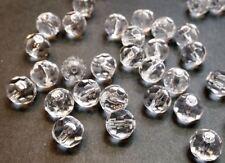10 grosses perles rondes à facettes verre 10mm transparent