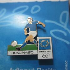 Olympics Pin Athens Aohna Greece 2004 Lapel Hat Pin Collectible Soccer Player