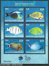 PALAU  2014 FISH PACIFIC ISLANDS FORUM  SHEET  MINT NH