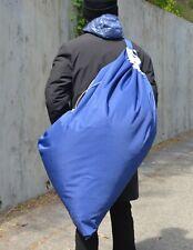 NW Lg Navy Heavy Duty LTWT Wtr Resistant Laundry Duffel Bag w/Shldr Strap 28x40