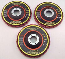 """Premium 4.5""""x7/8"""" Medium Grit Surface Conditioning T29 Flap Discs - 3 discs"""