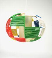 RARE STRING ART ORIGINAL 50S VINTAGE MID CENTURY HANGING CEILING LAMP PENDANT