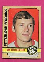 1972-73 OPC  #  15 PENGUINS JIM RUTHERFORD GOALIE ROOKIE EX+ CARD (INV# D1786)