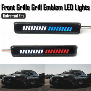 Universal LED Light Car Front Grille Badge Illuminated Decal Stickers Decor Lamp