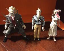 """Neca Beetlejuice 4"""" PVC Figure Lot of 3 Barbara Adam Head Beetlejuice 2001"""