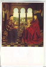 carte postale  beaux arts : Van Eyck - La vierge du chancelier Rolin