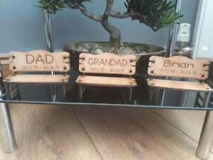 Memorial gifts Personalised Remembrance Bench Wood Engraved