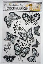 3 D Schmetterlinge & Wandtattoos Wanddeko Deko schwarz Aufkleber Sticker NEU