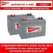 Batterie de Loisirs à Double Usage Hankook Pour Caravane et Camping Car 130Ah