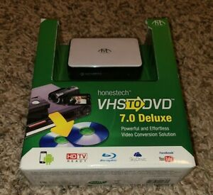 Honestech VHS to DVD/Blu-Ray 7.0 Deluxe Video Conversion Solution USB Windows