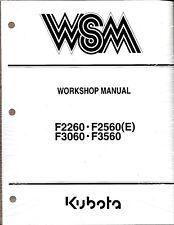 Kubota F2260, F2560(E), F3060 F3560 Mower Workshop Manual 97897-11903
