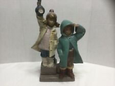 """New listing Lladro Spain #2173 """"Ahoy There"""" children looking out to sea - Gres Finish"""