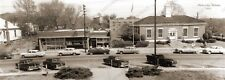 "Phenix City, Alabama Post Office 1955 Panoramic Sepia Photo 5"" x 14"" FREE SHIPPI"