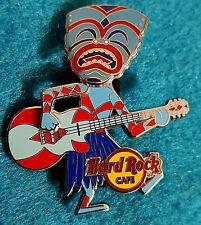 New listing Online Hinged Bobblehead Tiki Warrior Musician Mask Guitar #2 Hard Rock Cafe Pin