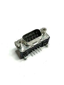100pcs of LD09P33E4GV00LF  D-Sub Male Connector 9 POS R/A Solder
