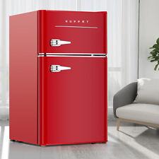 3.2 Cu.Ft 2-Door Compact Mini Refrigerator Retro Mini Fridge Home Office Red