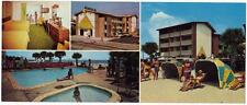 Breakwater Inn Motel MYRTLE BEACH SC Vintage 1950s Multiview Panoramic Postcard