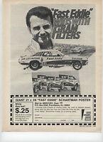 """1970 Fast Eddie Schartman Fram Oil Filter Cougar Print Ad """""""
