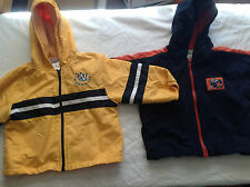 Infant toddler size 24 months zipper long sleeve Hoody Jackets TOTAL 2 Tops