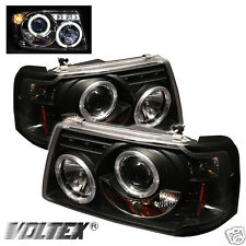 2001-2008 FORD RANGER HALO LED PROJECTOR HEADLIGHTS LIGHTBAR LIGHT BAR BLACK