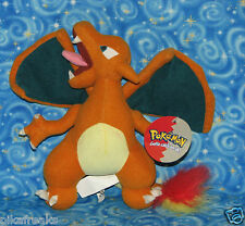"New Pokemon Charizard Plush Doll 8"" 1999 Official Nintendo Next Day USA Shipping"