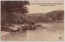 CPA -69-  COLLONGES-au-MONT-d'OR - Les Bords de la Saône.